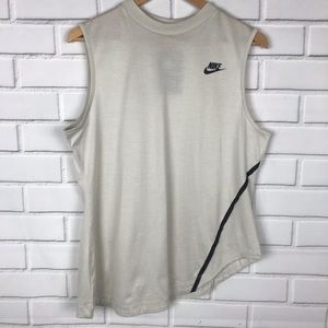 Nike asymmetrical hem tank top | size large